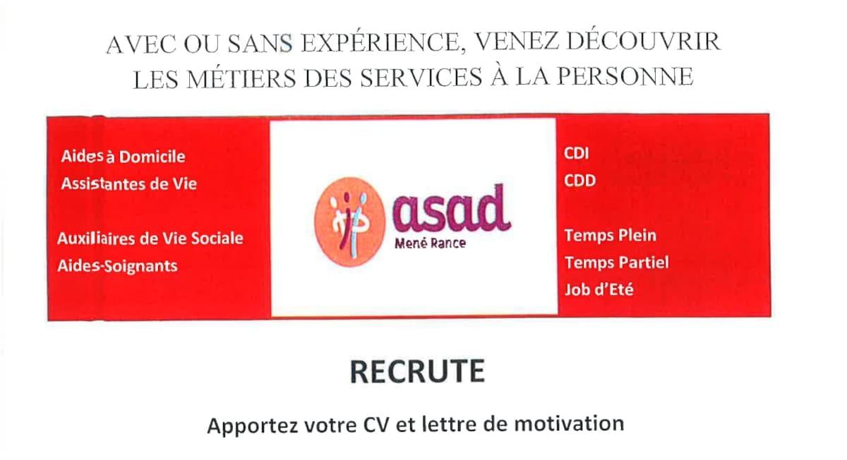 Asad recrute – Services à la personne