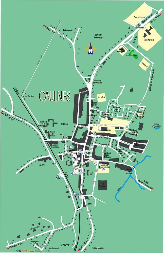 plan du bourg de caulnes