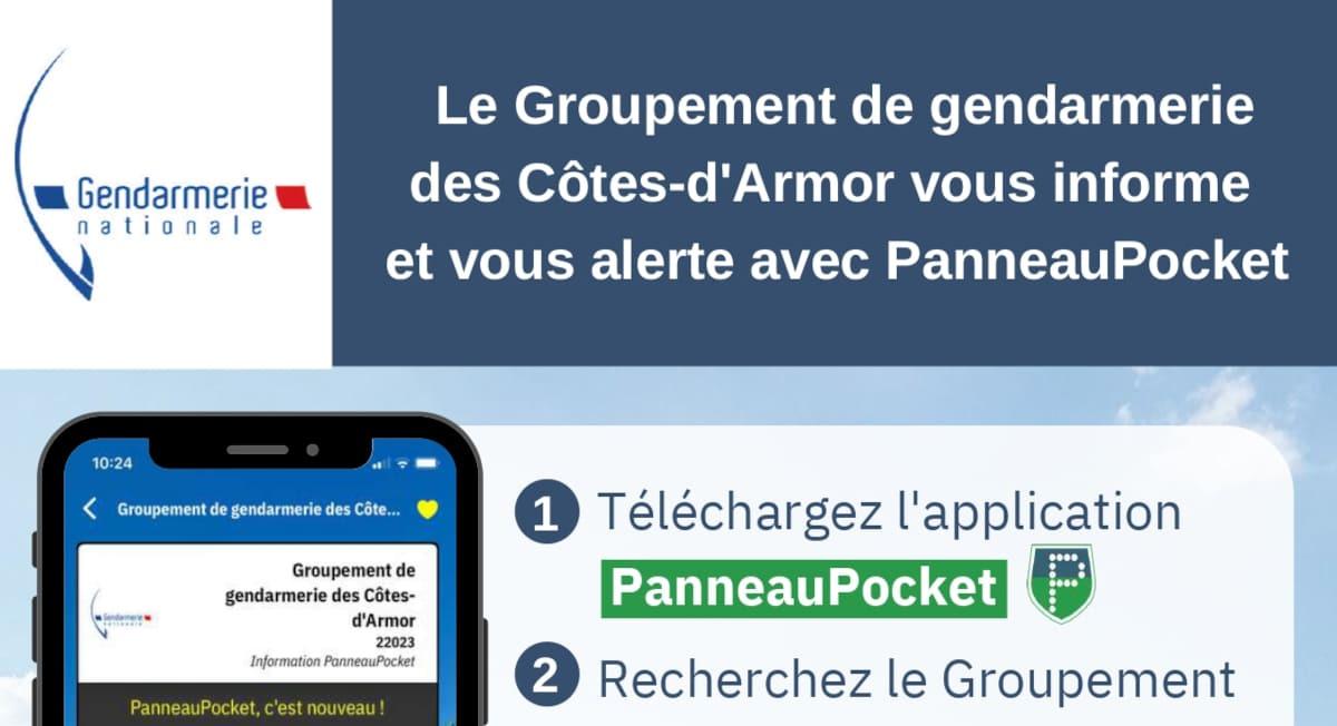La gendarmerie est sur Panneau Pocket