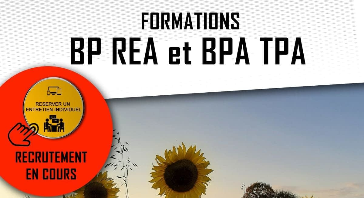 Read more about the article Formations BP REA et BPA TPA