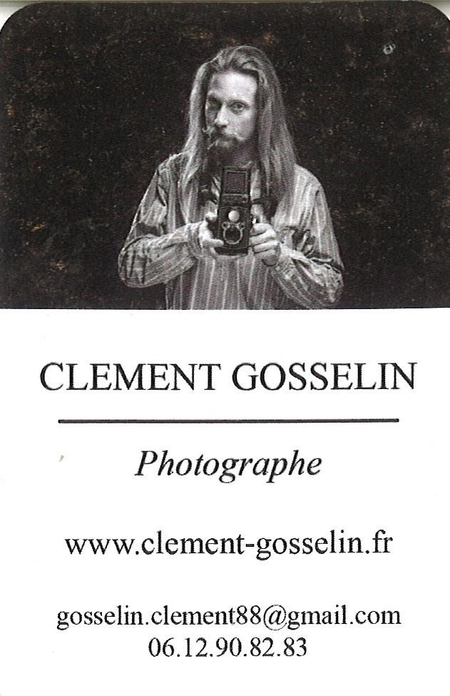 carte de visite clement gosselin photographe argentique caulnes