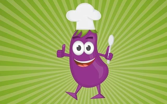 cuisinier aubergine