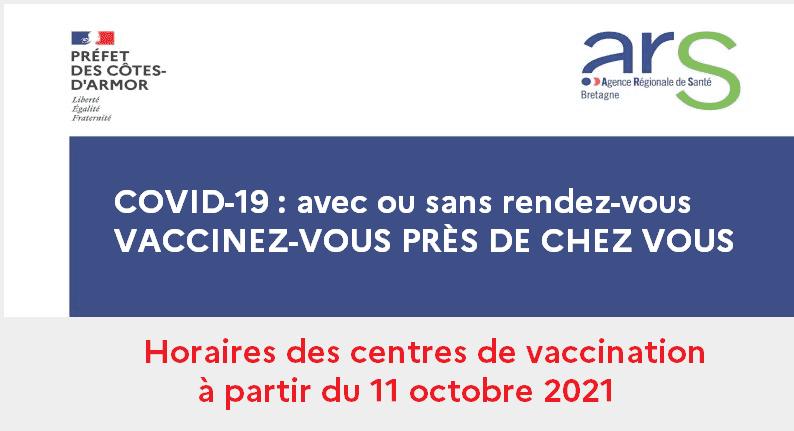 Read more about the article Horaires des centres de vaccination
