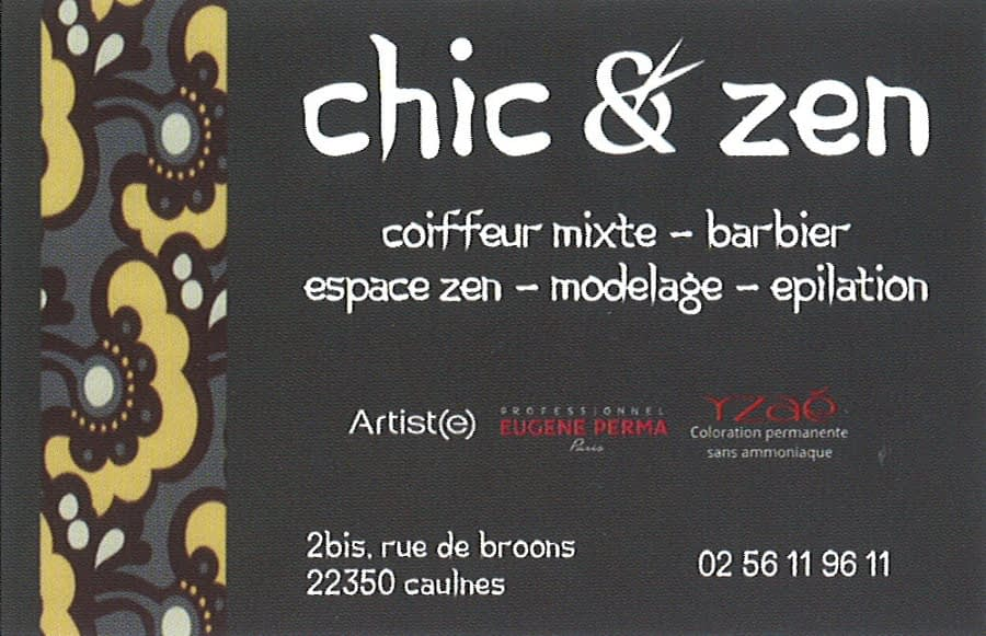 carte de visite chic et zen